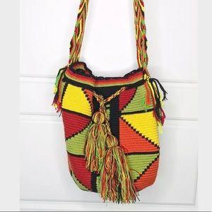 Handbags - Wayuu Hobo Mochila Bag Jalianaya Colombia